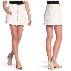 Free People Denim Zip It Up Mini Skirt